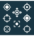GPS Target Location Symbols vector image vector image