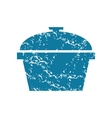 Grunge pot icon vector image vector image