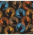 Hand art tile vector image vector image
