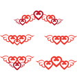 heart border vector image vector image