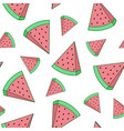 image of a watermelon on a white background vector image vector image