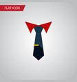 isolated collar flat icon tailoring vector image