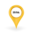 Location Seoul vector image
