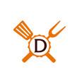 logo restaurant letter d vector image vector image