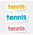 logo Tennis on a light background vector image vector image