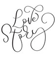 love story text words on white background hand vector image vector image