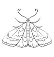 moth sketch on white background vector image vector image