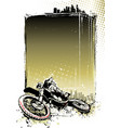 motocross poster vector image vector image