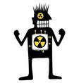 nuclear powered silhouette cartoon vector image