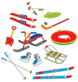 Objects for winter leisure vector image