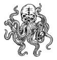 octopus black tattoo design vector image