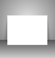 paper white sheet a4 template background vector image