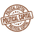 political capital brown grunge stamp vector image vector image