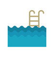 pool with stairs icon vector image vector image