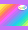 rainbow diagonal background vector image vector image