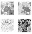 set of seamless wallpaper vector image vector image