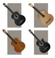 some types guitar vector image vector image