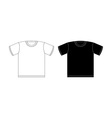T-shirt black and white on a white background vector image