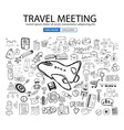 Travel for Business concept with Doodle design