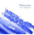 turquoise navy blue watercolor texture vector image vector image