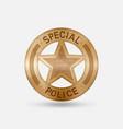 vintage bronze badge special police star vector image vector image