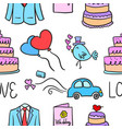 wedding element doodle style collection vector image vector image