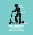 Kick Scooter Black Symbol vector image