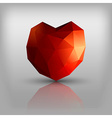 Polygon Heart vector image