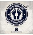 alternative membership stamp vector image