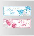 it s a boy and it s a girl two banner vector image