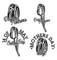 vintage mothers day emblems vector image