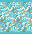 abstract sea water seamless pattern vector image vector image