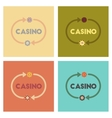 assembly flat icons poker casino chips vector image
