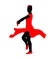 attractive spanish girl flamenco dancer silhouette vector image vector image