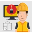 avatar construction worker vector image