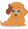 baby dog puppy cartoon vector image vector image