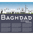 Baghdad Skyline with Gray Buildings Blue Sky vector image vector image