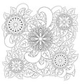 black and white circle flower ornament ornamental vector image vector image