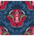 Blue and red indian seamless pattern vector image vector image