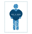 blue white lineart plants man in love silhouette vector image