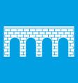 bridge icon white vector image vector image