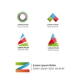 bright abstract logos set vector image