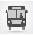 bus web icon vector image vector image
