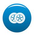 car tyre icon blue vector image vector image