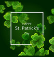 Card on st patrick s day 3d effect clover