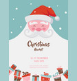 Christmas market poster with santa and presents