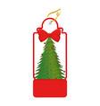 christmas tag hanging icon vector image