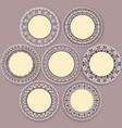 circular floral ornament template for tattoo vector image vector image