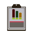 clipboard with financial infographic chart and vector image