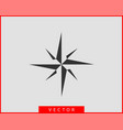 compass icon wind rose star navigation vector image